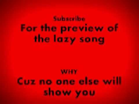The Lazy Song KB Version