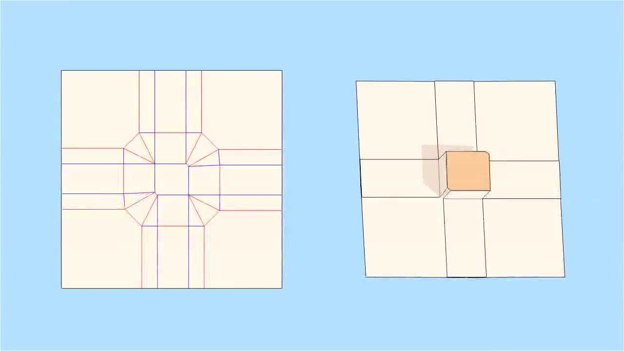 Origami Cube Transformation Youtube Jeremy Shafer Diagrams