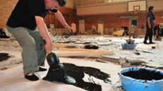 墨痕力強く 「墨人会」の研究会 書の革新探る(2011/08/06)北海道新聞