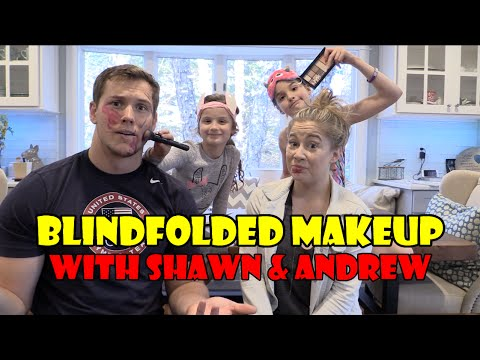 Blindfolded Makeup with Shawn and Andrew WK 276  Bratayley