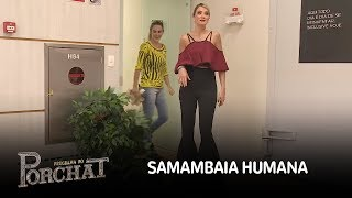 Samambaia humana assusta funcionários e apresentadores da Record TV