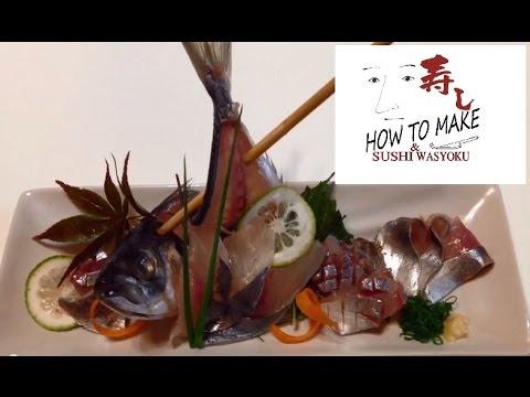 How To Make Sashimi.sugatazukuri (whole Fish Sashimi)(horse Mackerel)STEP2