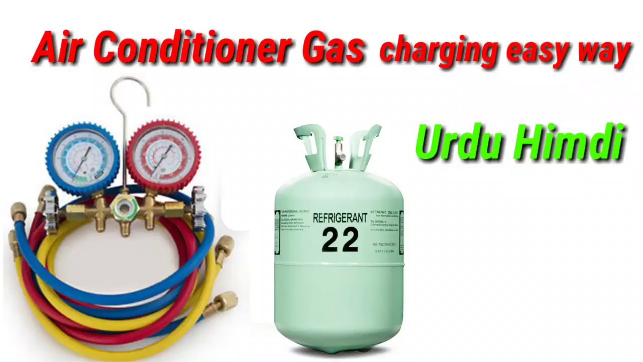 How To Refill Gas Air Conditioner Gas R22 Charging Gas Ac