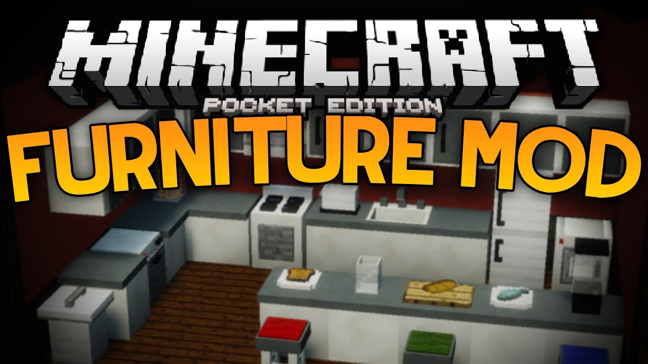 More Furniture In Mcpe The Furniture Mod Minecraft Pe Pocket