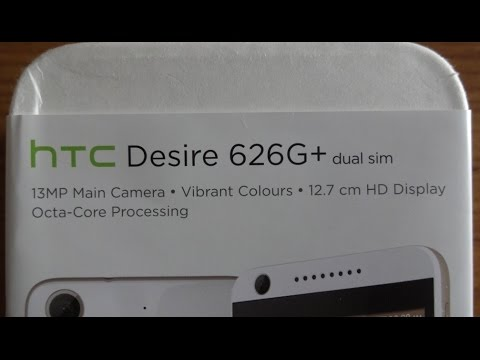 HTC Desire 626G+ Unboxing