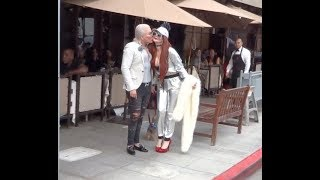 Rodrigo Alves kisses Phoebe Price while at lunch in Beverly Hills!!! - Subscribe