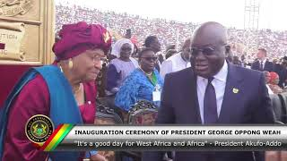 President Akufo-Addo attends Inauguration Ceremony of President George Oppong Weah thumbnail