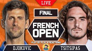 🔴 DJOKOVIC vs TSITSIPAS   French Open 2021   LIVE Tennis Play-by-Play