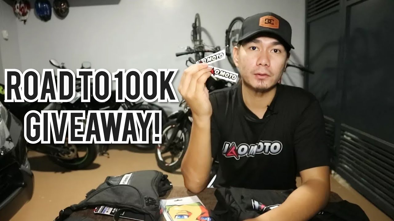 ROAD TO 100K SUBSCRIBERS GIVEAWAY | JAO MOTO