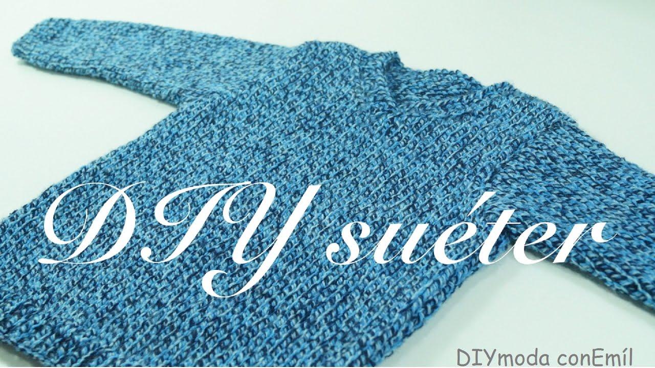 Como hacer un jersey de lana para mujer paso a paso - Como hacer un jersey de punto ...