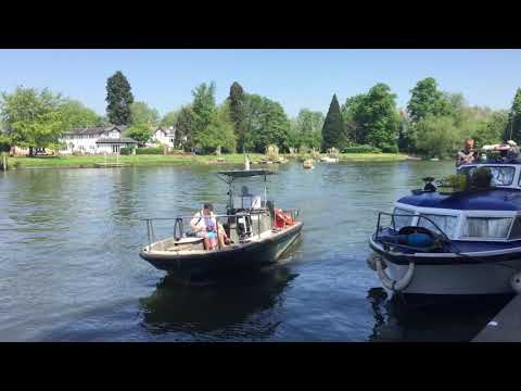 Crossing The Thames On The Shepperton Ferry