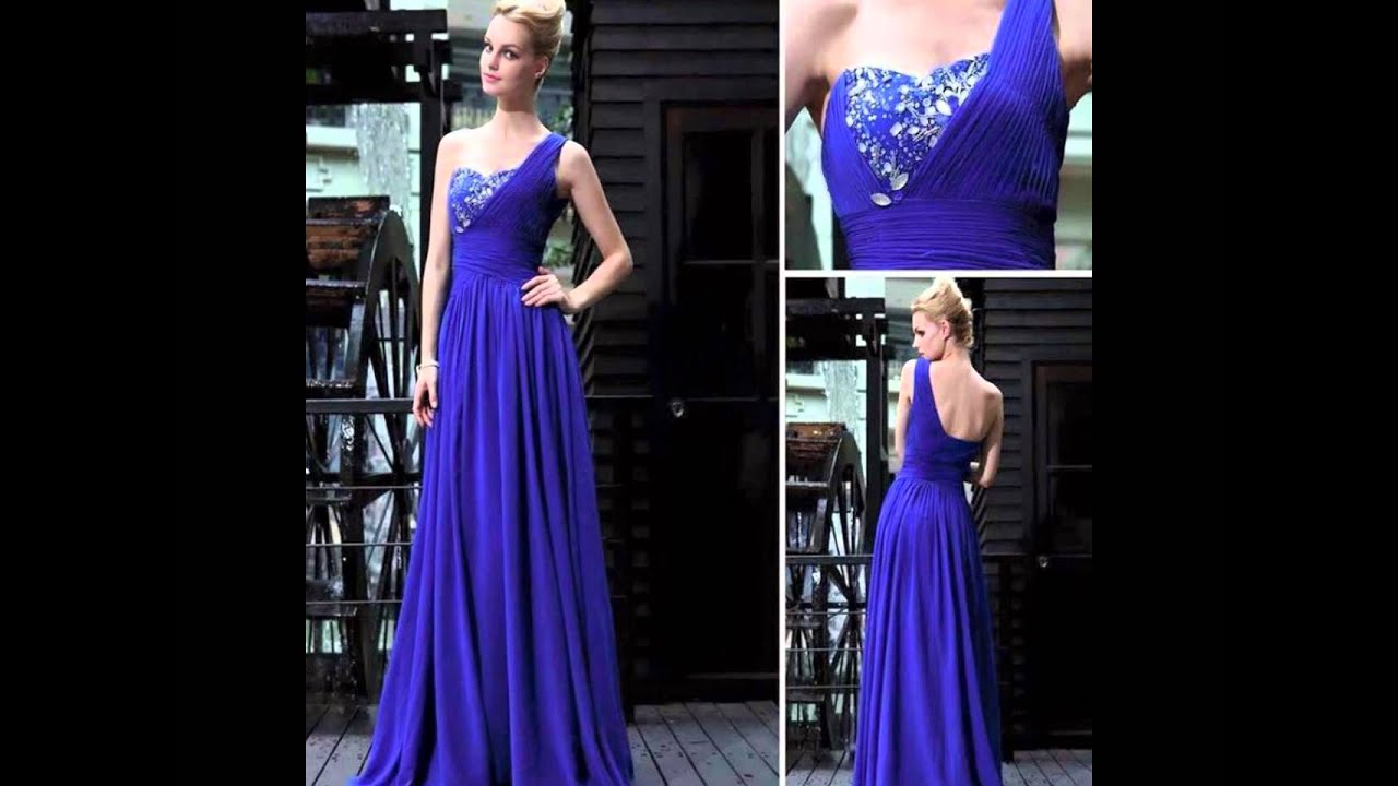 Vestidos Elegantes De Color Azul - YouTube