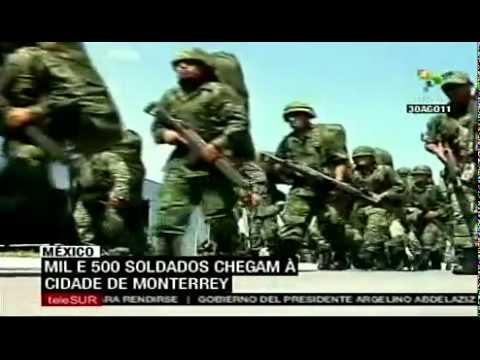 Mil e 500 soldados chegam à cidade de Monterrey