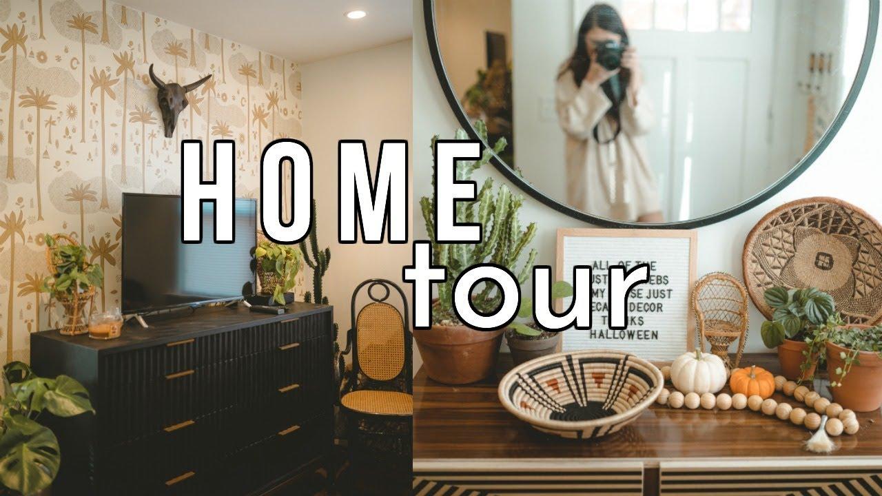 Boho Living Room Home Tour Sarah Belle Youtube