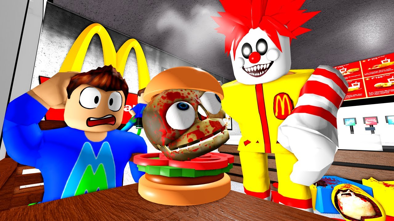 DO NOT EAT RONALD MCDONALDS BURGERS! Roblox Escape Ronald's Diner Scary Obby