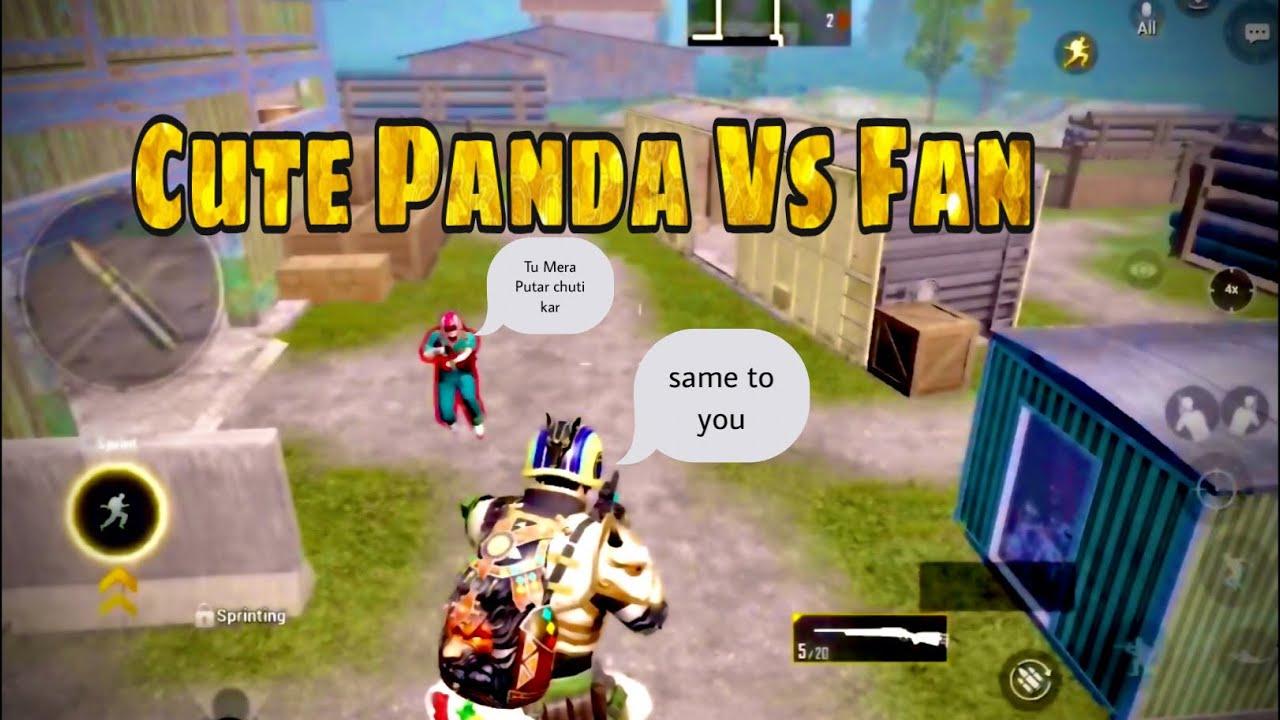 Cute Panda Vs My friend Also my fan | Cute Panda