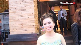 Vietnamese singer 'Ha Phuong' spotted leaving Doman H Cuong show during Viet Fashion Week