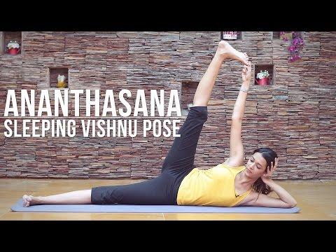 How to do Ananthasana Sleeping Vishnu Pose
