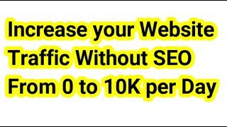 How to increase Blogger Website Traffic without SEO in Tamil