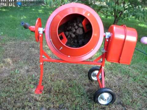 Pulverising Soil With Cement Mixer Then Tumbling Gl