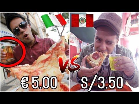 PIZZA BARATA ITALIANA vs PERUANA! CUAL SERA MAS RICA? │ @BRUNOACME