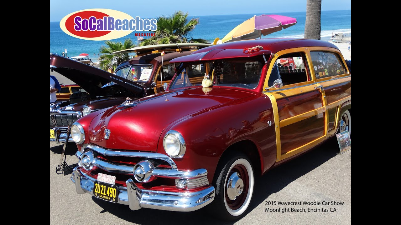 Surf Woodys At The Beach Wavecrest Car Show Youtube