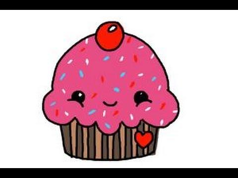 draw cute cupcake