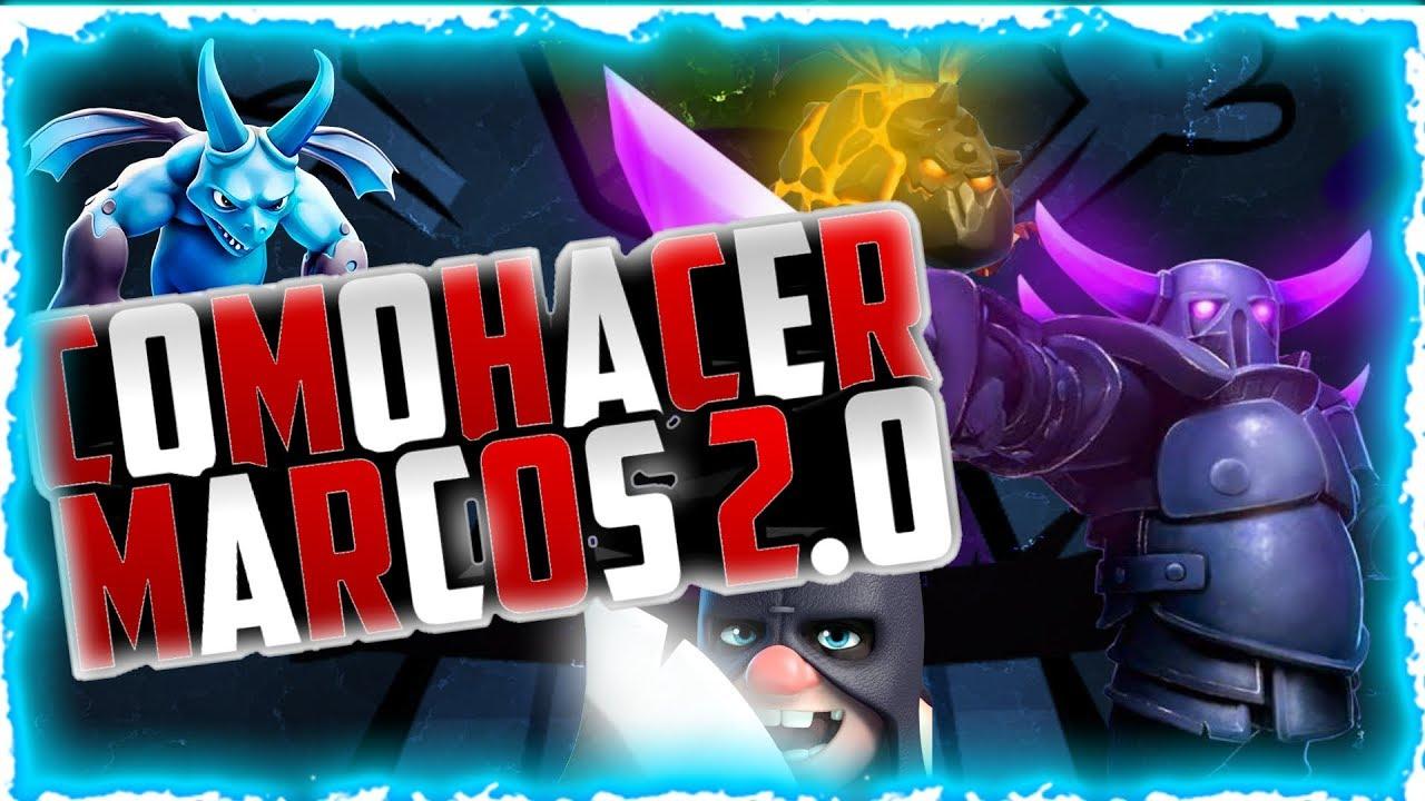 Cómo hacer Marco 2.0//Clash Royale//Videojuegos//Ps TOUCH//SPYKE_YT_ ...