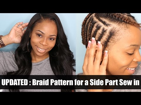 UPDATED: Braiding Pattern for a side part with leave out
