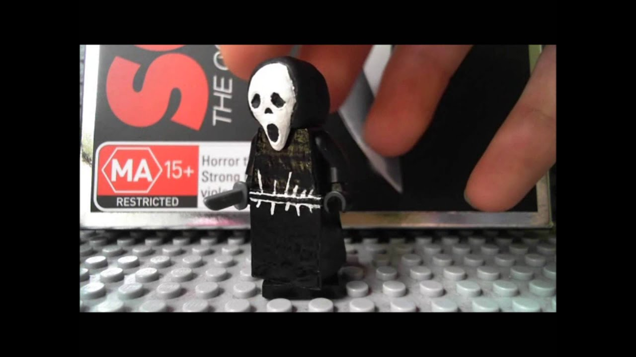 Custom LEGO Scream: Ghostface minifigure