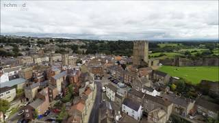A flight over Richmond, North Yorkshire.