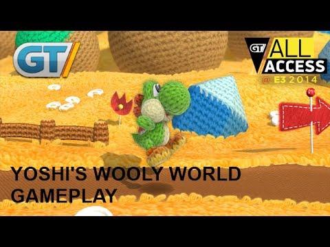 Yoshi's Wooly World Coop Gameplay
