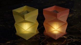 Repeat youtube video basteln zu Weihnachten: Windlichter aus Papier falten - DIY