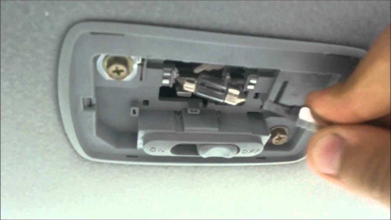 Replacing honda civic interior light with led 2001 2005 - Honda accord interior light bulb replacement ...