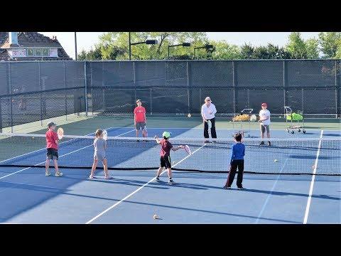 Group Tennis Drills Practice for Kids (4K)