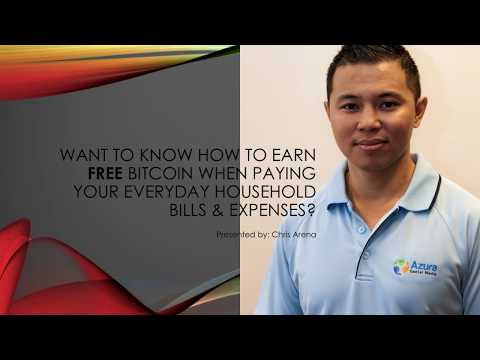 Want to know HOW you can earn FREE Bitcoin when paying everyday household bills & expenses?