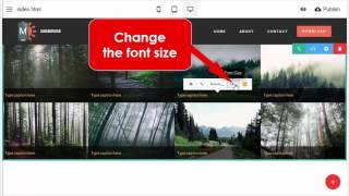 How to add text captions to the gallery - Mobirise Mobile Website Builder v2.10 thumbnail