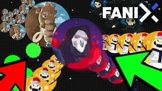 ULTIMATE BIGGEST Popsplits in Fanix.io| BEST AGAR.IO LIKE GAME