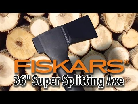 "Fiskars 36"" Super Splitter Axe Not the X27 or X25 ""Slow mo"" quick review from an average guy"