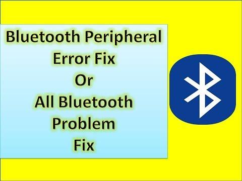 Bluetooth Peripheral Device Driver Error fix || All Bluetooth Problem Fix