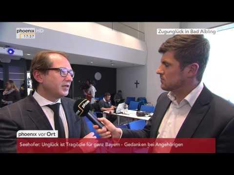 Zugunglück in Bad Aibling: Alexander Dobrindt gibt Interview am 09.02.2016