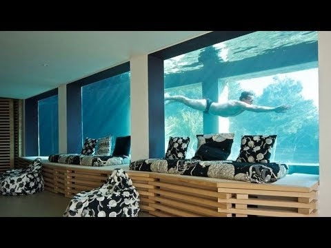 Villa On The Rocks with 91-Foot Aquarium Pool
