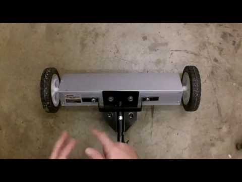 """Harbor Freight 22"""" Magnetic Sweeper Review and Modifications Item 98399"""