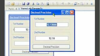 VB.NET - The Decimal Point - Using Decimal Precision - Tutorial