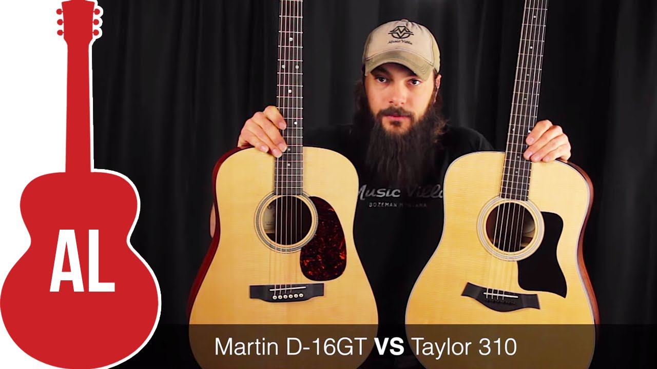 a comparison of the taylor and martin guitars A guide to the taylor acoustic guitar line | holiday gift guide find the perfect taylor guitar this holiday season our larger sizes you can also use our video comparison tool to explore our.