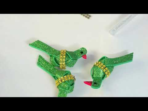 Easy craft idea  /Glitter Sheet Bird Wall Hanging / Best Out of Waste