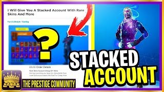 ⚠️NEW SCAM GLITCH!⚠️ & ''I Bought A NEW STACKED ACCOUNT And Got This...'' (Fortnite Stacked Account)