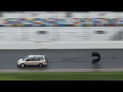Driving a Minivan on Daytona International Speedway