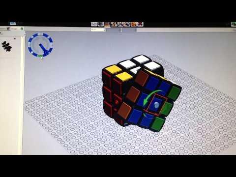 Lego LDD Rubik Cube play