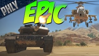 Modern mbt & attack helicopter (war thunder april fools 2017 gameplay)